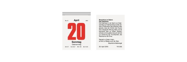 Tagesabreißkalender