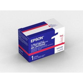 Epson SJIC-7-R Tintenpatrone rot, Inhalt 5.000.000 signs für TM-J 7100/7600