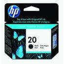 HP 20 Tintenpatrone schwarz, 460 Seiten, Inhalt 28 ml