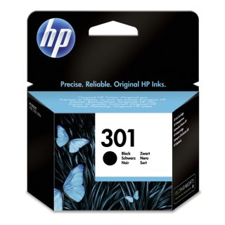 HP 301 Tintenpatrone schwarz, 190 Seiten