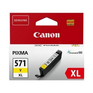 Canon 571XL Tintenpatrone gelb, 715 Seiten ISO/IEC 24711, Inhalt 11 ml