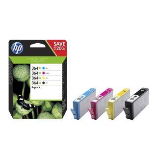 HP 364XL Tintenpatrone MultiPack Bk,C,M,Y 1x 550pg 3x 750pg VE=4