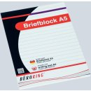 BüroRing Briefblock A5/50 Blatt liniert, holzfrei,...