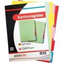 Büroring Karton Register A4 5-tlg. 5-farbig 175g/qm