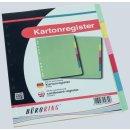 Büroring Karton Register A4 6-tlg. 5-farbig, 175g/qm