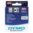 Schriftband 12mm/7m, DYMO 45020, weiß auf transparent