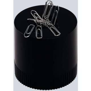 Büroklammernspender clipboy schwarz magnetisch mit Klammern