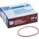 Gummiringe Durchmesser 65mm 50g, rot
