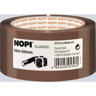Packband Nopi-Pack 66m x 50mm, braun, PP