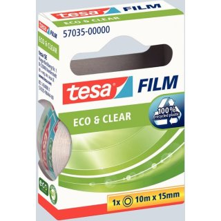 tesafilm Eco & Clear 15mm x 10m transparent und klar, nahezu