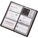 Visitenkartenalbum schwarz Leder für 120 Karten,...
