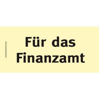 Haftnotizen 75 x 35 mm, gelb Für das Finanzamt