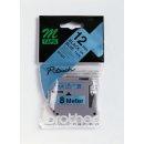 Schriftbandkassette 12mmx8m blau/schwarz für P-touch