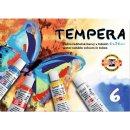 Temperafarbe 16ml Tuben, sortiert in 6 Farben