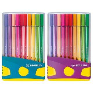 Stabilo pen 68 Fasermaler 20er ColorParade im Kunststoffetui