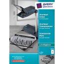 Avery Zweckform Kopier-Folie A4, 0,10 mm, für OHP