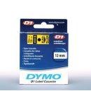Schriftband 12mm/7m, DYMO 45018, schwarz auf gelb