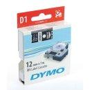 Schriftband 12mm/7m, DYMO 45021, weiß auf schwarz