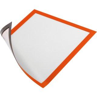 Duraframe Magnetic A4, orange, für schnelles Auswechseln von Infos