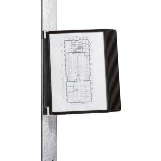 Sichttafelsystem Vario Magnet Wall 10, A4, magnetischer rücken