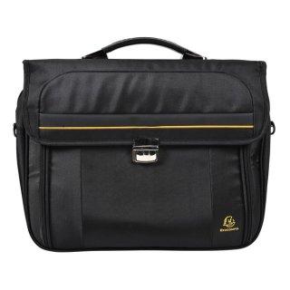 "Notebooktasche/Umhängetasche 15,6"" sw (43x10x370cm), gestepptem Stoff"