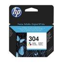 HP 304 Tintenpatrone color, 120 Seiten/5%, Inhalt 2 ml