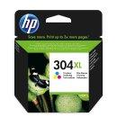 HP 304XL Tintenpatrone color, 300 Seiten/5%, Inhalt 7 ml