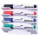 Whiteboard Markerhalter magnethaft für 4...