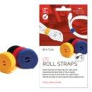 Klettbandrolle Roll, 16mm x 1m, sortiert, doppelseitig,...