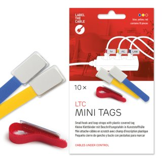 Label-The-Cable Mini 10er Set mix 10 kleine Klettbinder mit