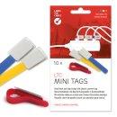 Label-The-Cable Mini 10er Set mix 10 kleine Klettbinder mit
