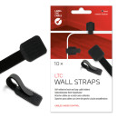Label-The-Cable Wall 10er Set schwarz, 10 selbstklebende