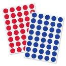 Klebepunkte Ø 18 mm, rot+blau Kunststoff, Inhalt:...