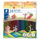 Farbstiftetui Noris colour hexagonal, 24er Papp-Etui, aus...