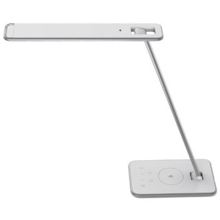 Unilux LED-Tischleuchte Jazz weiß + metallgrau