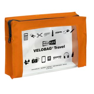 Velobag Travel A5, 230x160, orange PVC-Folie transparent mit farbiger