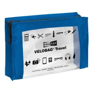 Velobag Travel A5, 230x160, blau PVC-Folie transparent mit farbiger