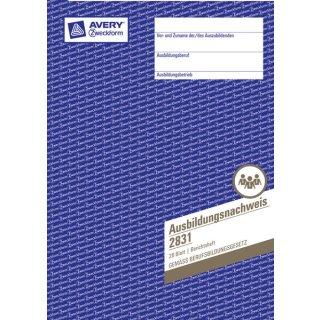 Avery Zweckform Ausbildungsnachweis A4, 28 Blatt, 1 Woche je Seite