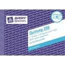Avery Zweckform Quittung m. MwSt, A6 quer, MP, 2 x 50 Blatt