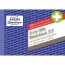 Avery Zweckform Erste Hilfe Meldeblock A6, 50 Blatt zur...