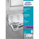 Avery Zweckform Laser+Kopier-Folie A4, selbstklebend 100...
