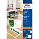 Avery Zweckform Visitenkarten 200g, Quick u. Clean, 85x54...