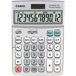 Taschenrechner, DF-120ECO, silber 12-stelliges Display, Solar/Batterie