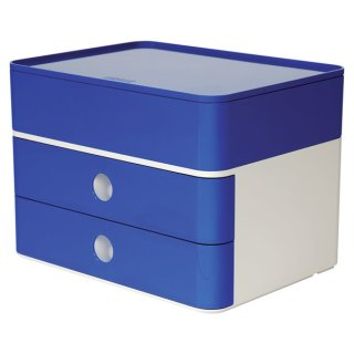 Smart-Box Plus Allison, 2 Schübe und Utensilienbox, royal blue