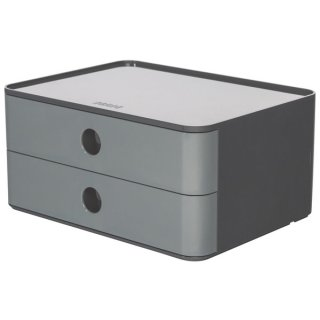 Smart-Box Allison,Schubladenbox 2 Schübe, granite grey