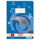 Heft A4, 16 Blatt, 80g, LIN 02 liniert, FSC Mix, Delfin