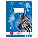 Heft A4, 16 Blatt, 80g, LIN 03 liniert, FSC Mix, Zebra