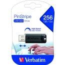 Speicherstick USB 3.0, 256 GB, PinStripe, schwarz