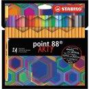 Stabilo point 88 Tintenschreiber, Fineliner 8824/1-20...