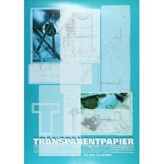Transparentpapierblock DIN A3, 75 g/qm, weiß, VE= 20 Blatt